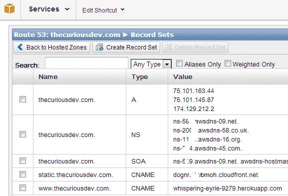 Route53 DNS Configuration